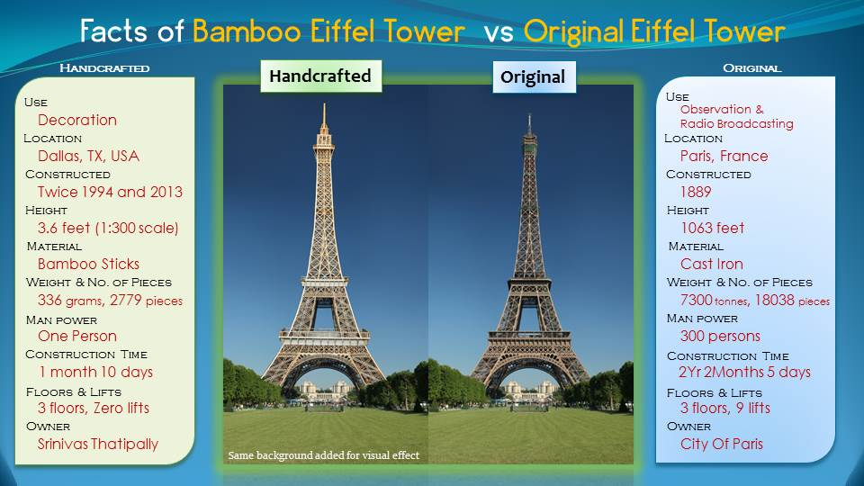 Making Of Eiffel Tower With Bamboo Sticks